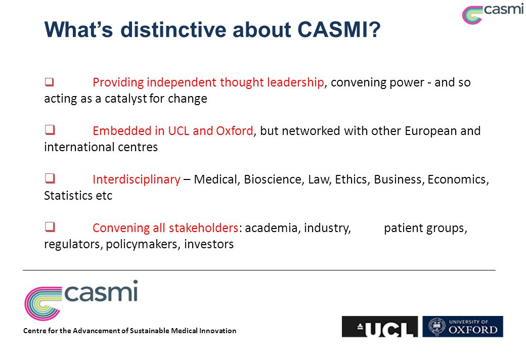 What's distinctive about CASMI.