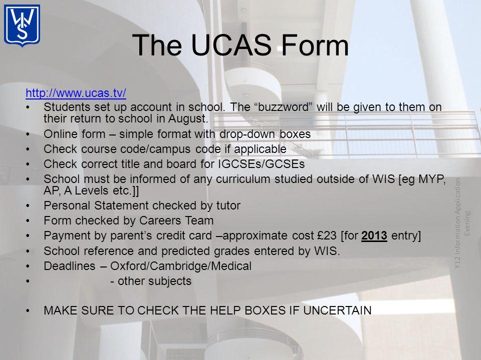 http://www.ucas.tv/ Students set up account in school.