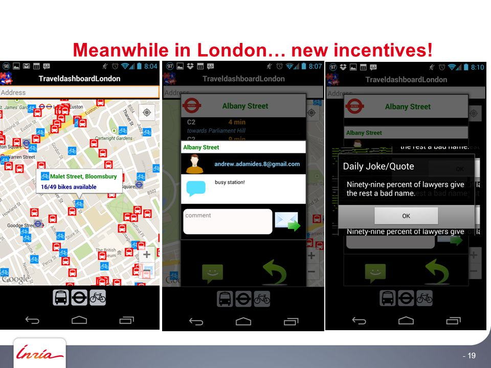 Meanwhile in London… new incentives! - 19