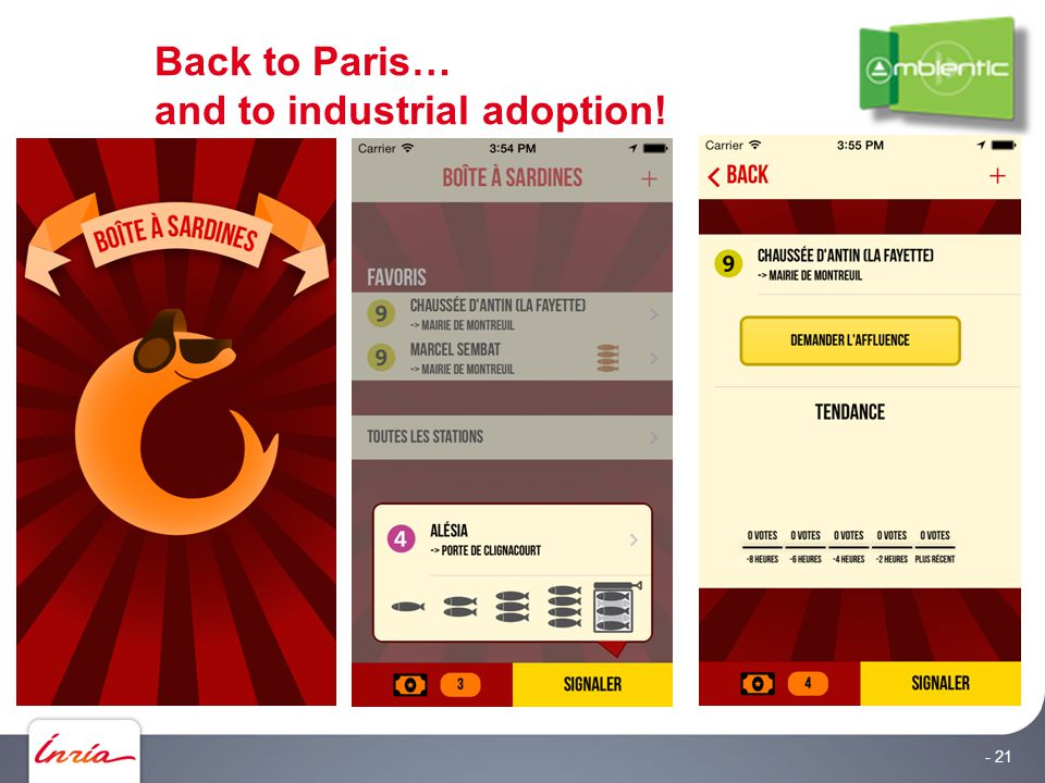 Back to Paris… and to industrial adoption! - 21