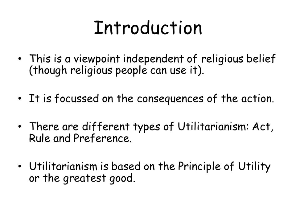 Introduction This is a viewpoint independent of religious belief (though religious people can use it).