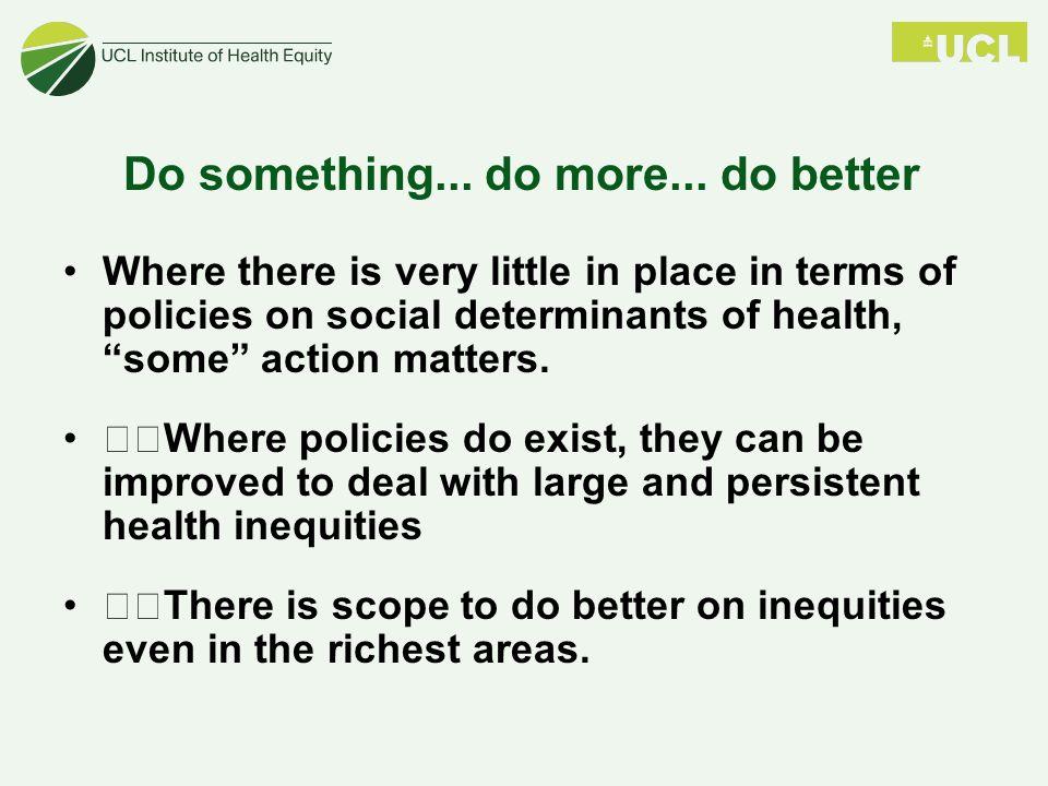 Do something... do more...