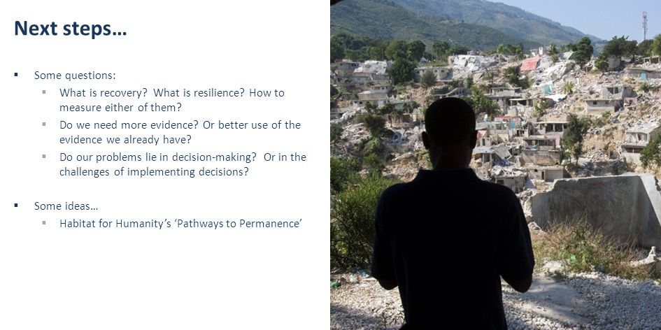 Next steps…  Some questions:  What is recovery. What is resilience.