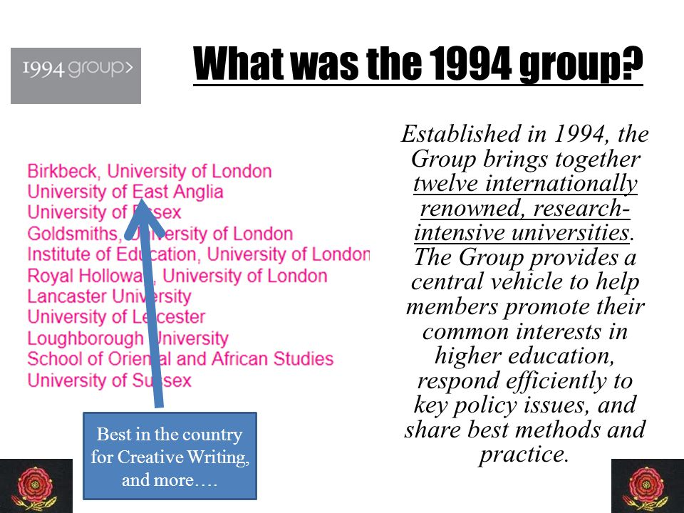 What was the 1994 group.