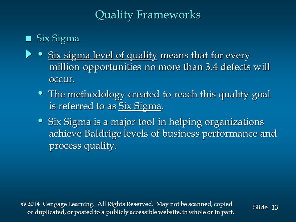13 Slide © 2014 Cengage Learning.All Rights Reserved.