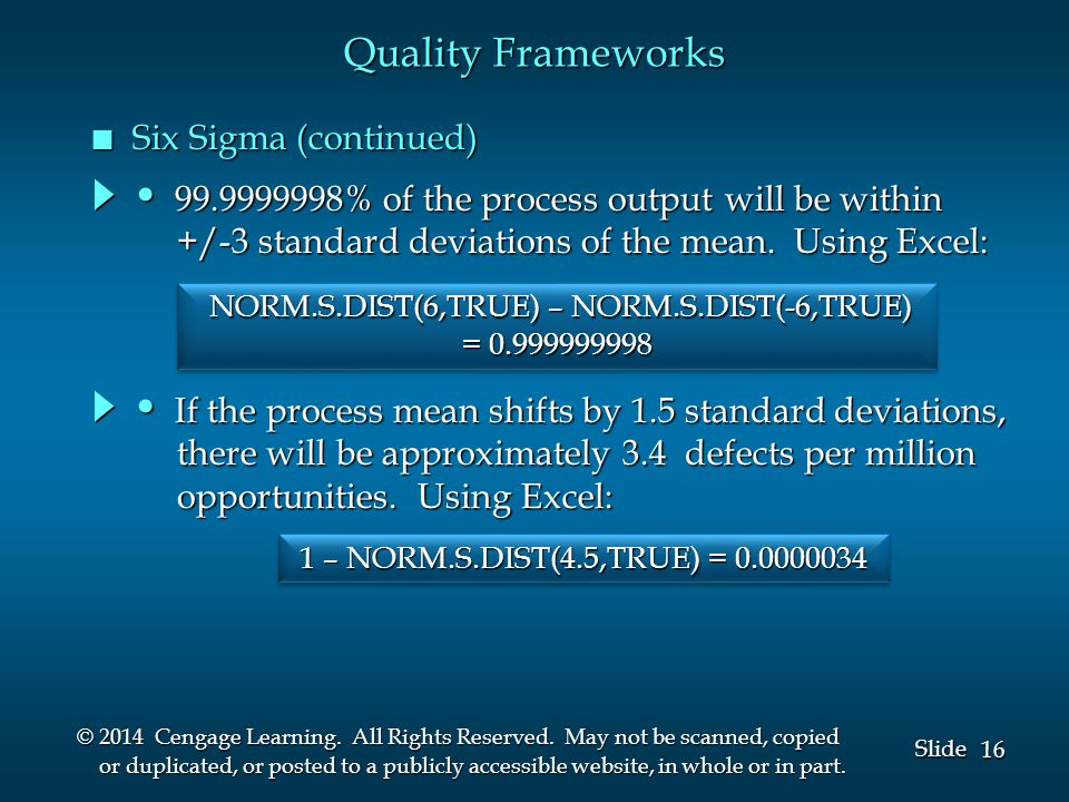 16 Slide © 2014 Cengage Learning. All Rights Reserved.