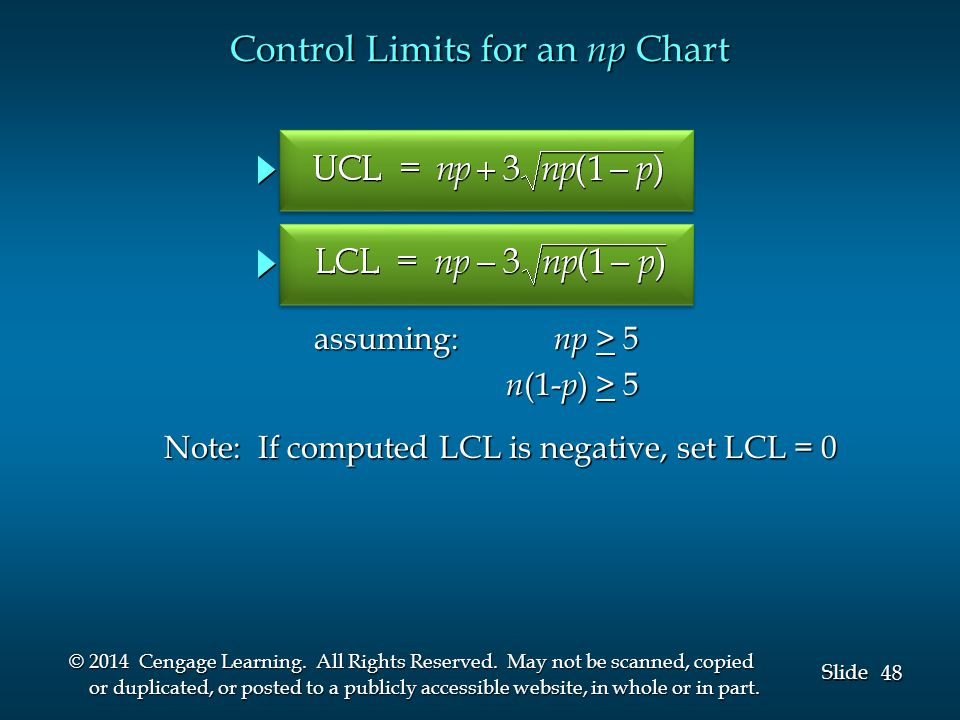 48 Slide © 2014 Cengage Learning.All Rights Reserved.