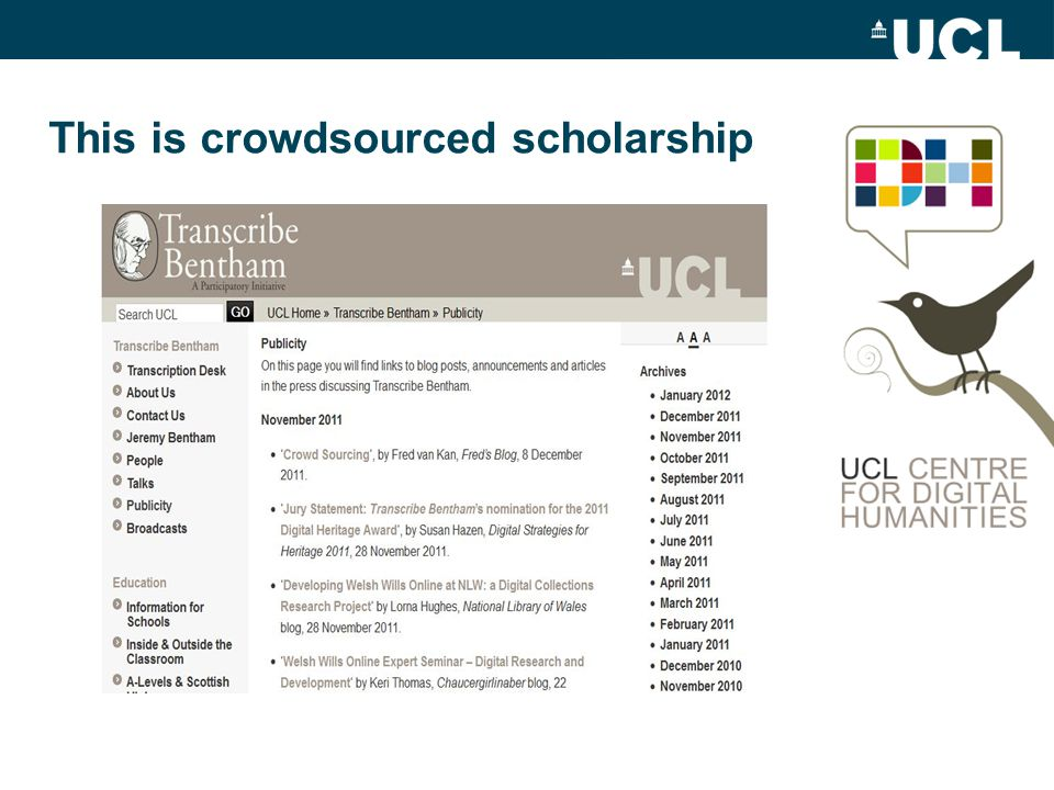 This is crowdsourced scholarship