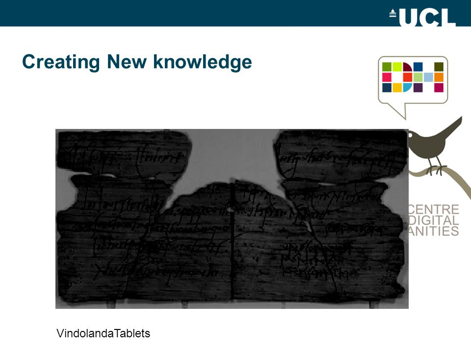 Creating New knowledge VindolandaTablets
