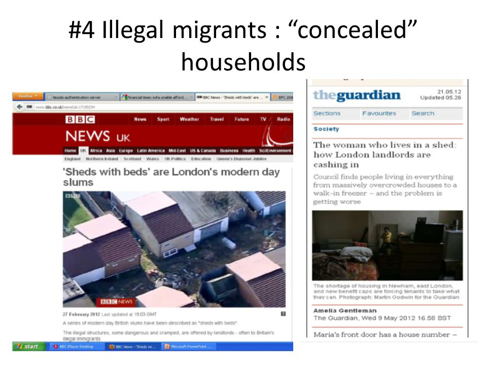 #4 Illegal migrants : concealed households