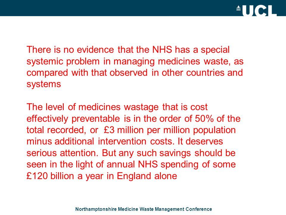 Northamptonshire Medicine Waste Management Conference.