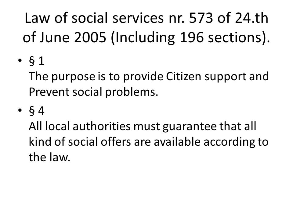 TILBUDSPORTALEN § 7 A national homepage where you can find different sort of social services.