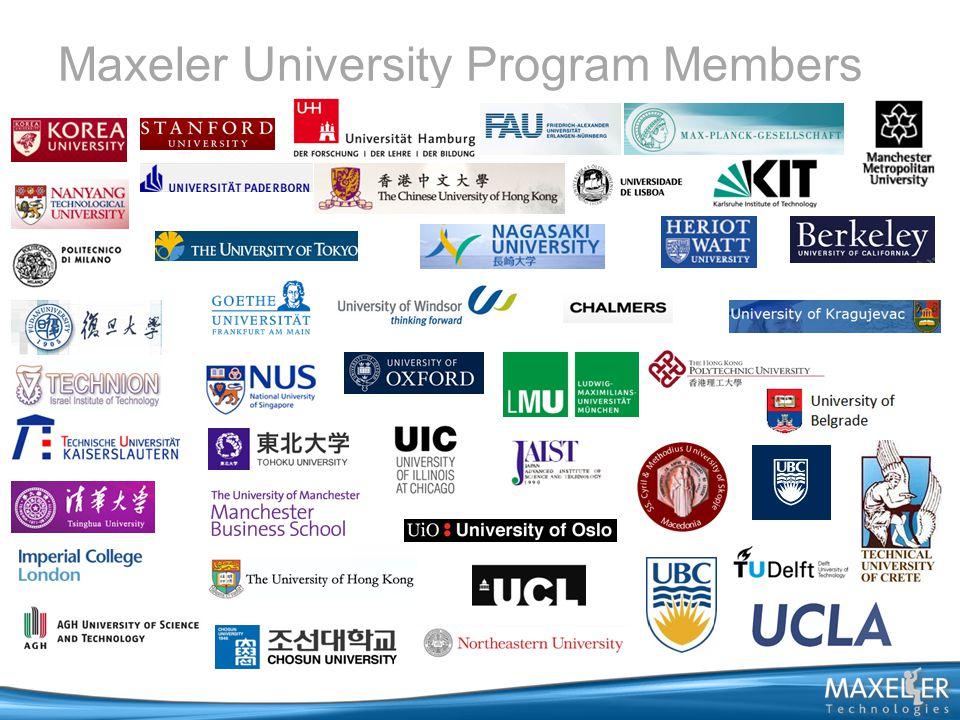 Maxeler University Program Members