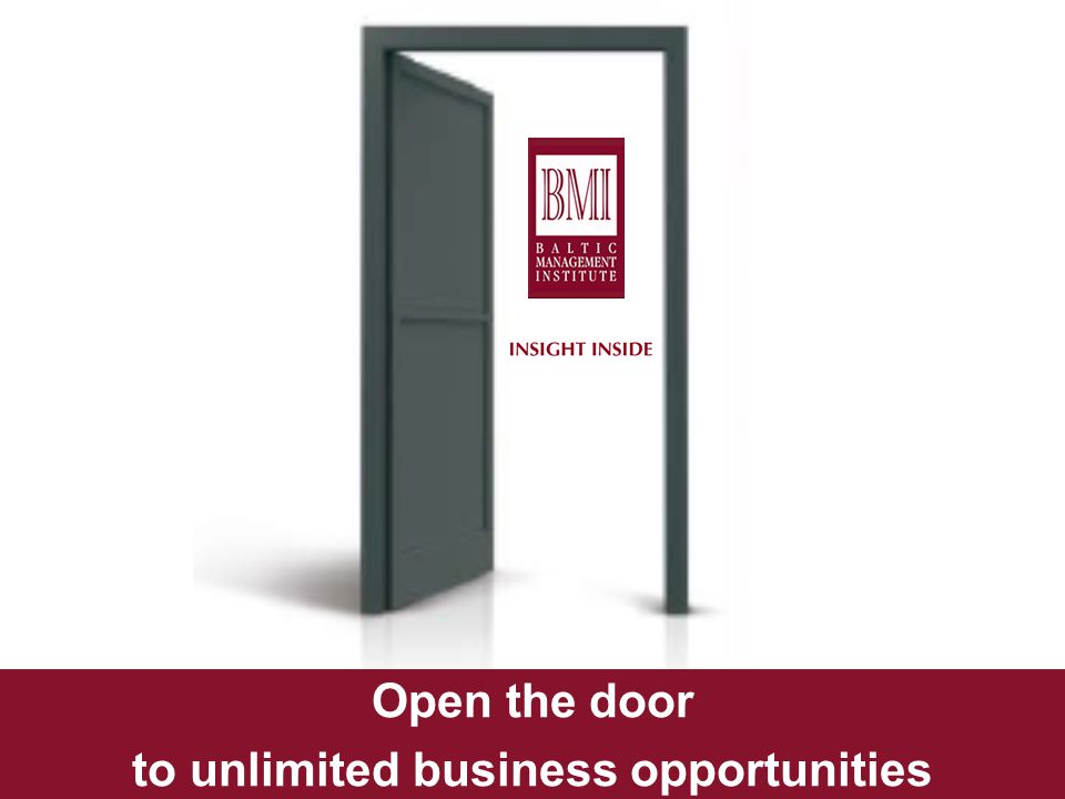 Opening Unlimited Business Opportunities Open the door to unlimited business opportunities