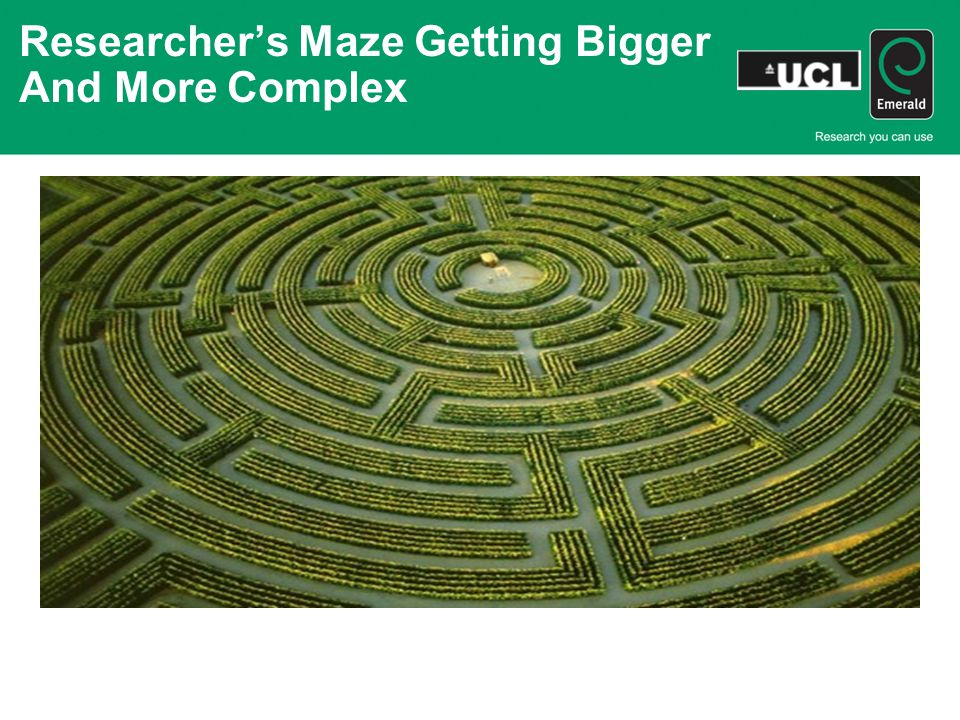 Researcher's Maze Getting Bigger And More Complex