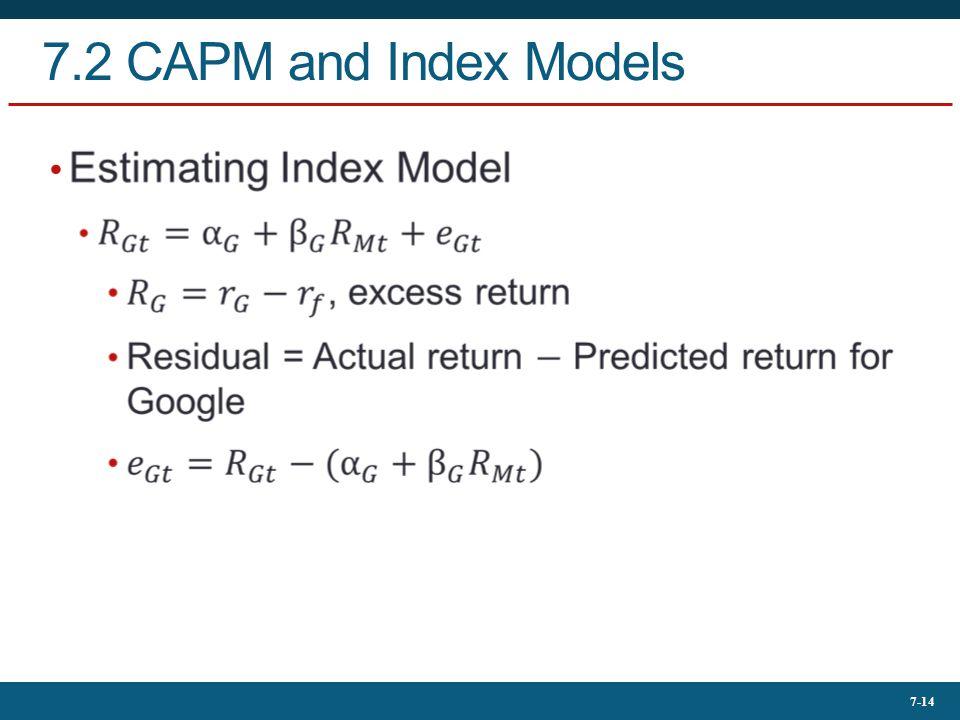 7-14 7.2 CAPM and Index Models