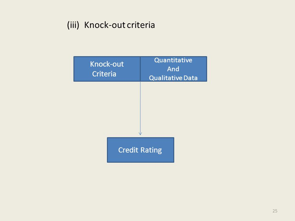 (iii) Knock-out criteria Knock-out Criteria Quantitative And Qualitative Data Credit Rating 25