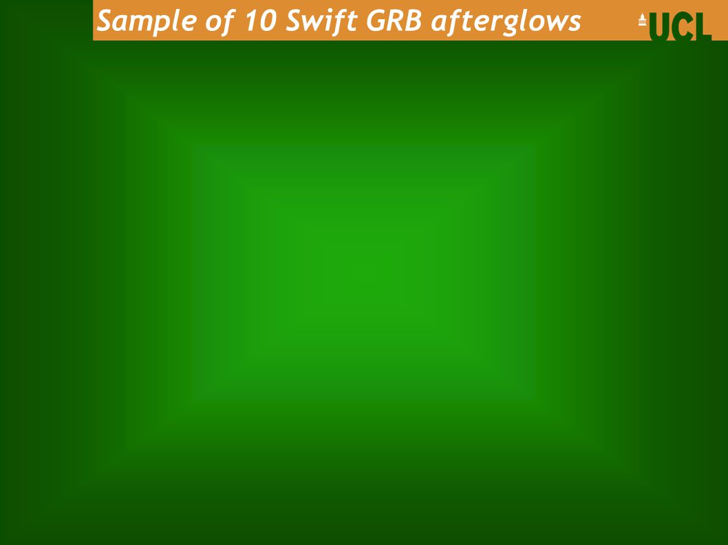 Sample of 10 Swift GRB afterglows