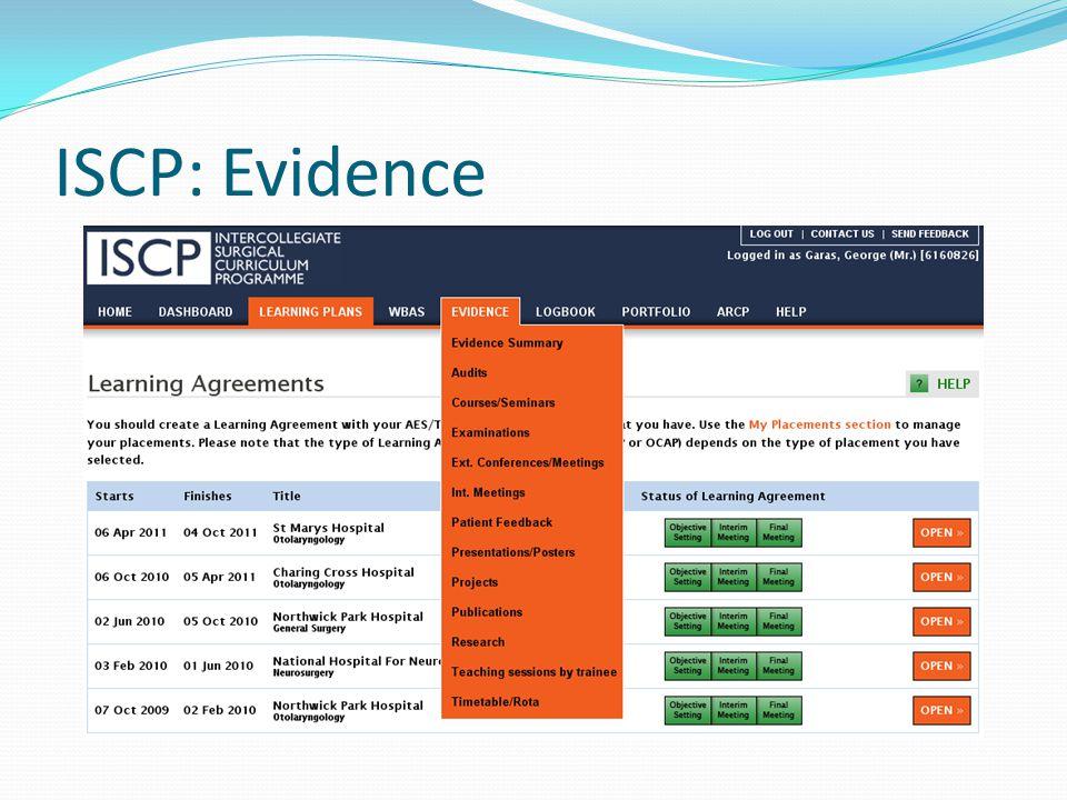 ISCP: Evidence