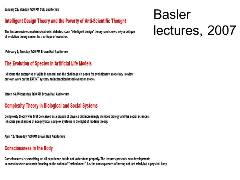 Basler lectures, 2007