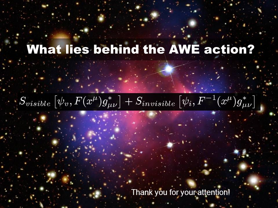 What lies behind the AWE action? Thank you for your attention!
