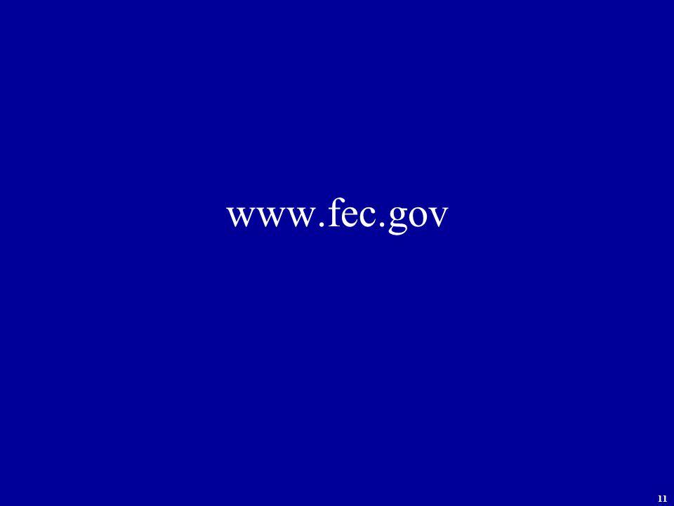 11 www.fec.gov