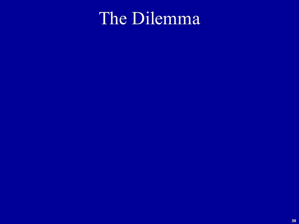 30 The Dilemma