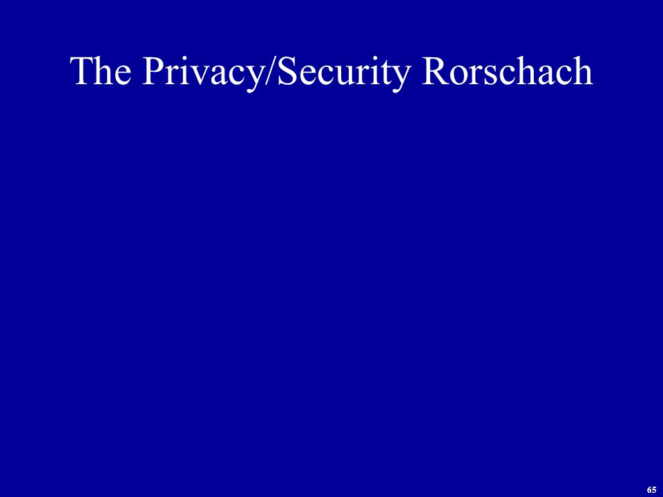65 The Privacy/Security Rorschach