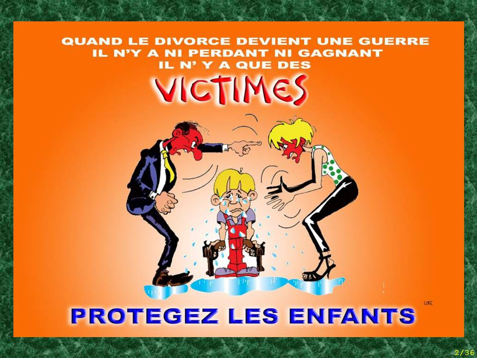 1/36 The Loss of the Parental Bond And non-presentation of children('s visiting rights) The Belgian situation (statistics and reflections)  Over a song by TWARRES  © Patrick GARNIER – 02/02/2009 genitor of a child born without a father in 1998 www.patrick-garnier.net patrick.garnier@skynet.be 36 frame slide show (use the arrows to go forward / back)