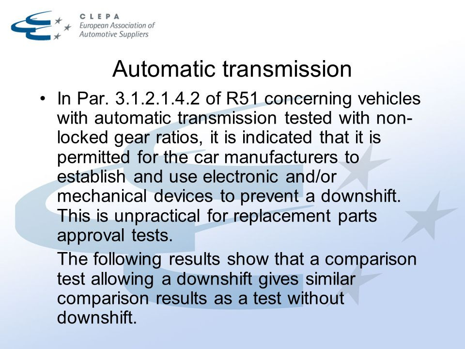 Automatic transmission In Par.