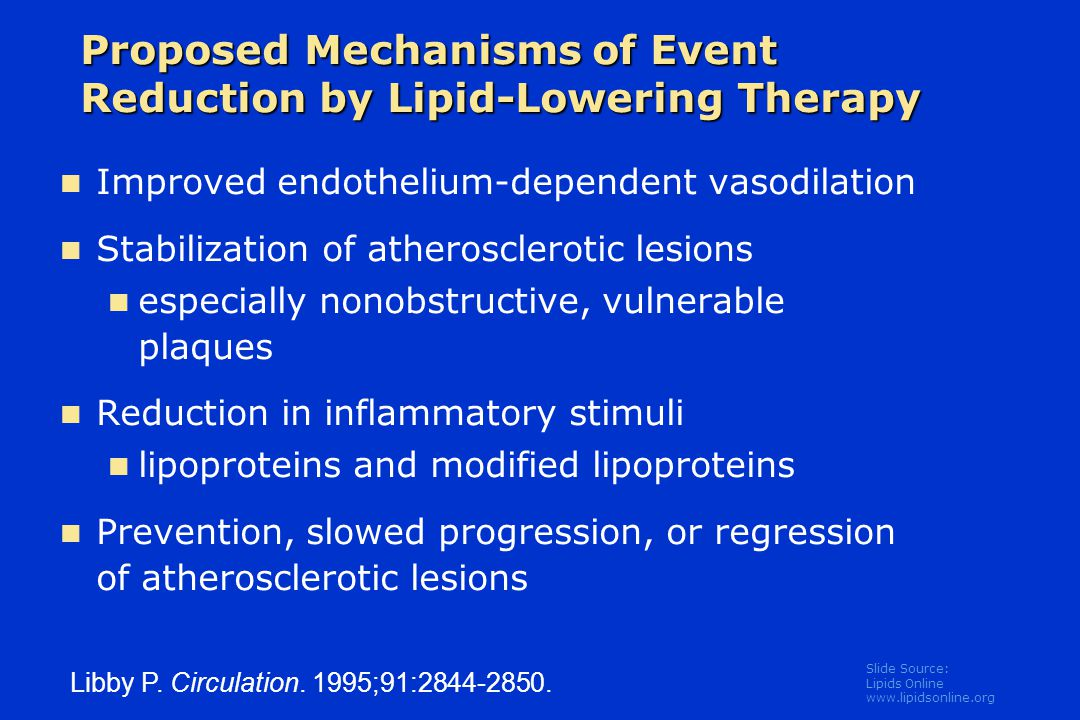 Slide Source: Lipids Online www.lipidsonline.org Atheroma are not merely filled with lipid, but contain cells whose functions critically influence atherogenesis: Intrinsic Vascular Wall Cells: Endothelium Smooth Muscle Cells Inflammatory Cells: Macrophages T Lymphocytes Mast Cells