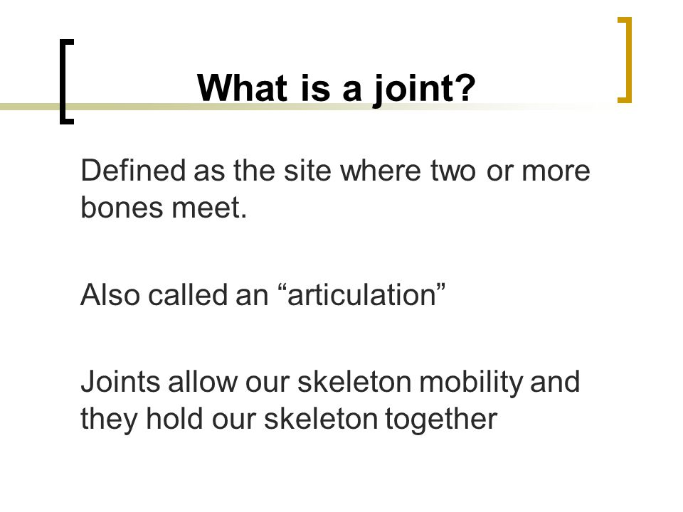 SYNOVIAL JOINTS General Characteristics  Articular bones are separated by a fluid-filled cavity  Joints of limbs  Diarthrotic