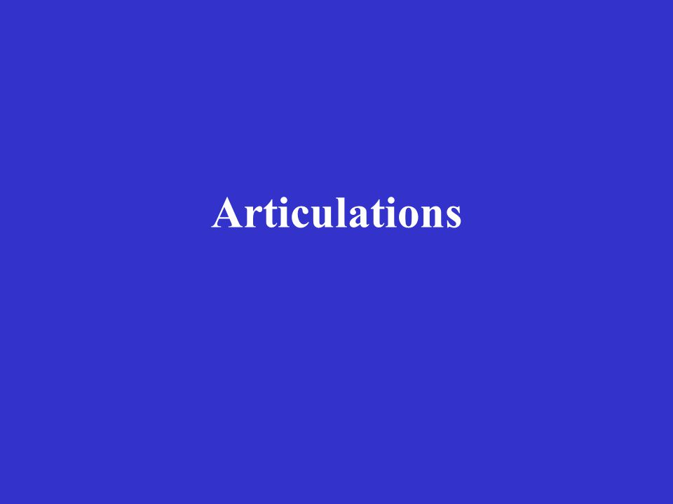 Articulations Slightly Movable – Fibrous Syndesmosis