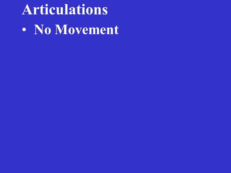 Articulations No Movement