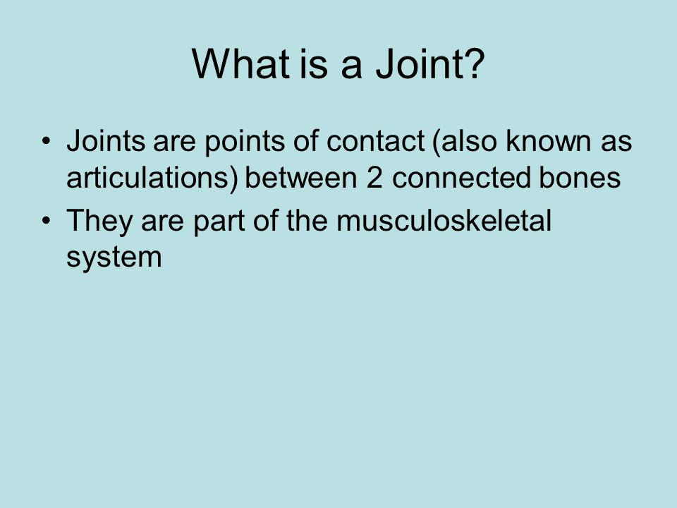 What is a Joint.