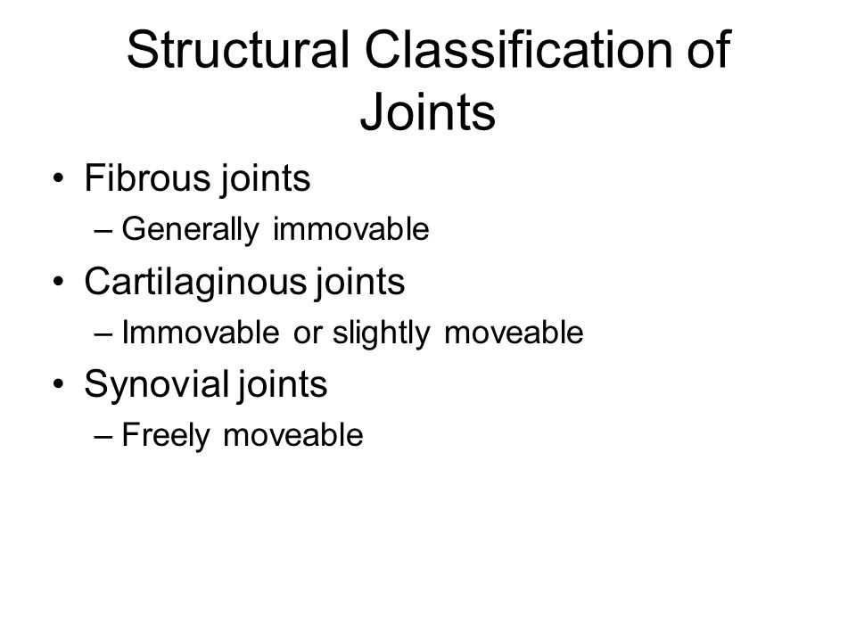 Summary of Joint Classes [Insert Table 5.3 here] Table 5.3