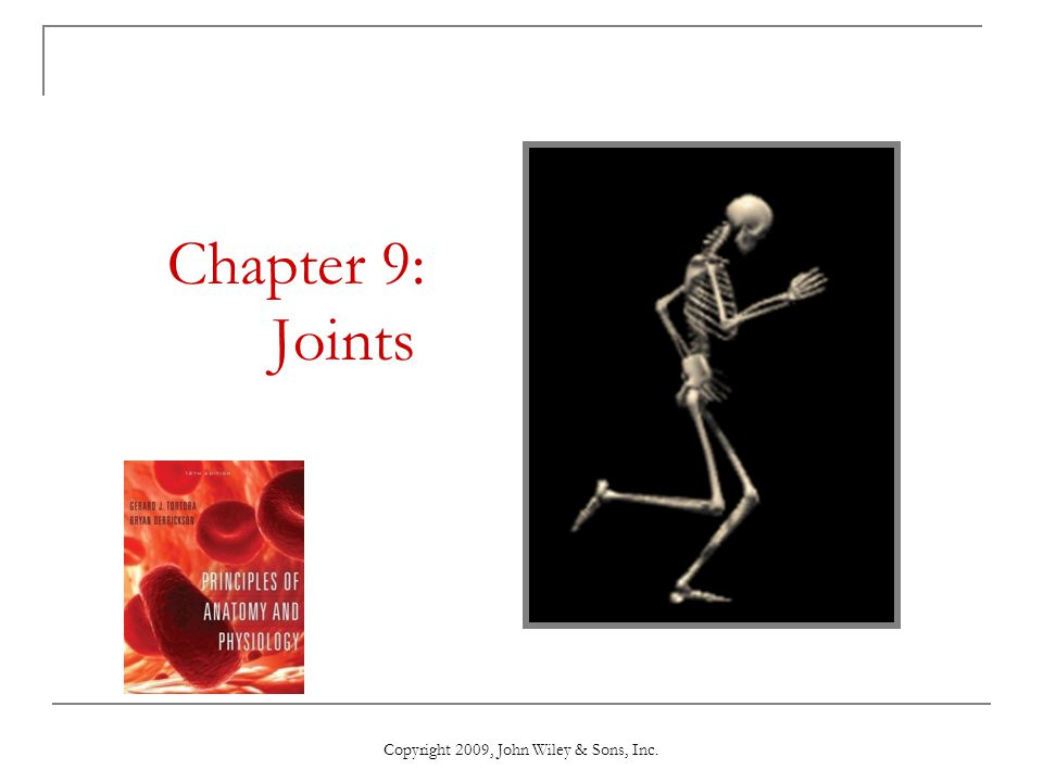 Copyright 2009, John Wiley & Sons, Inc. Chapter 9: Joints
