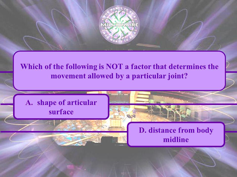 A.shape of articular surface D.