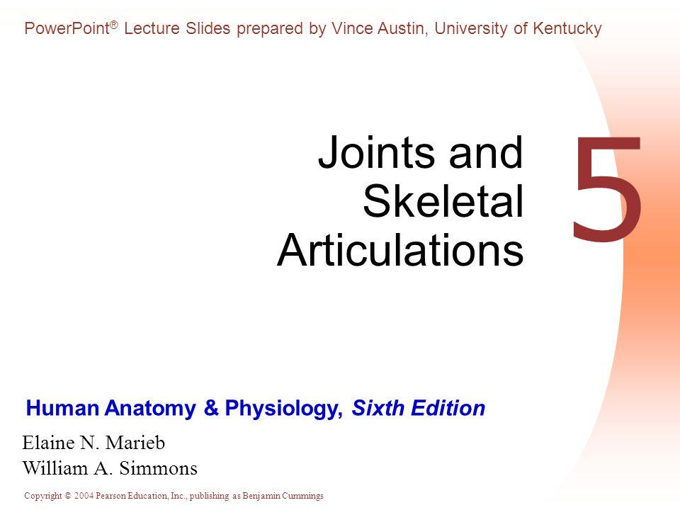 Copyright © 2004 Pearson Education, Inc., publishing as Benjamin Cummings Human Anatomy & Physiology, Sixth Edition Elaine N. Marieb William A. Simmon