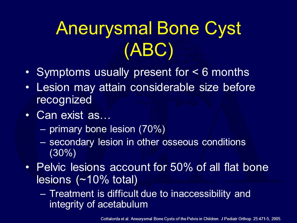 Symptoms usually present for < 6 months Lesion may attain considerable size before recognized Can exist as… –primary bone lesion (70%) –secondary lesi