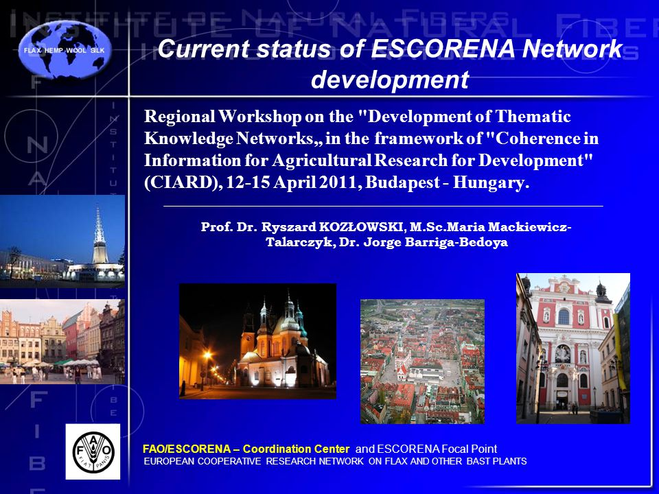 """Regional Workshop on the Development of Thematic Knowledge Networks"""" in the framework of Coherence in Information for Agricultural Research for Development (CIARD), 12-15 April 2011, Budapest - Hungary."""