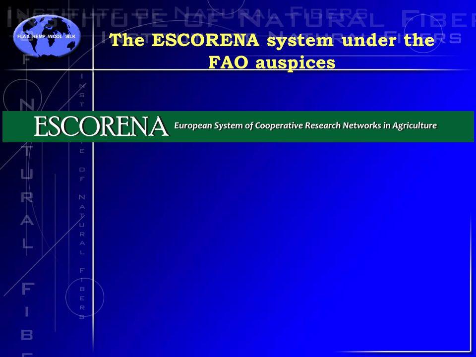 The ESCORENA system under the FAO auspices