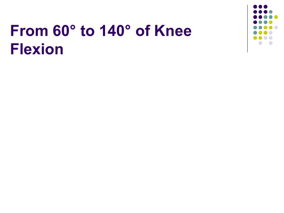 From 60° to 140° of Knee Flexion