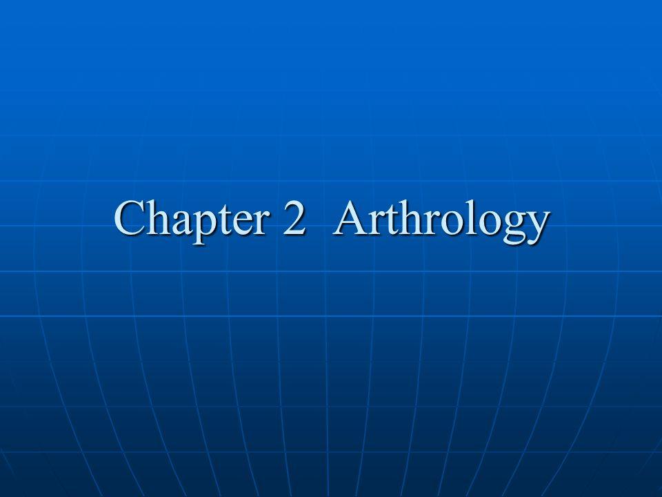 Chapter 2 Arthrology