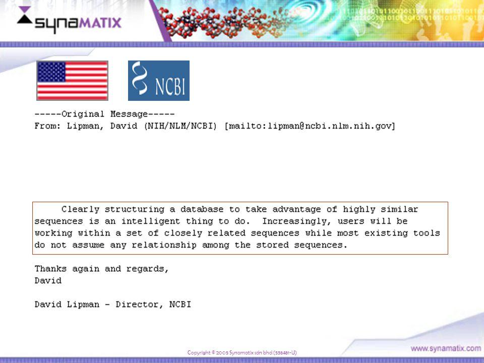 Copyright © 2005 Synamatix sdn bhd (538481-U) New Customers in 2006