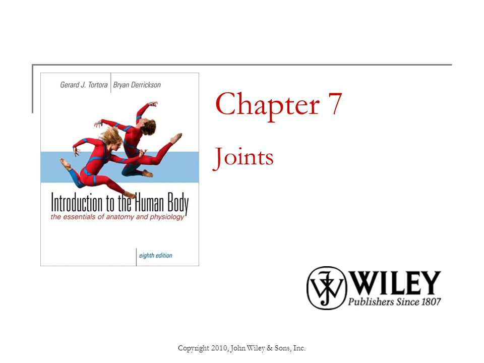 Copyright 2010, John Wiley & Sons, Inc.End of Chapter 7 Copyright 2010 John Wiley & Sons, Inc.