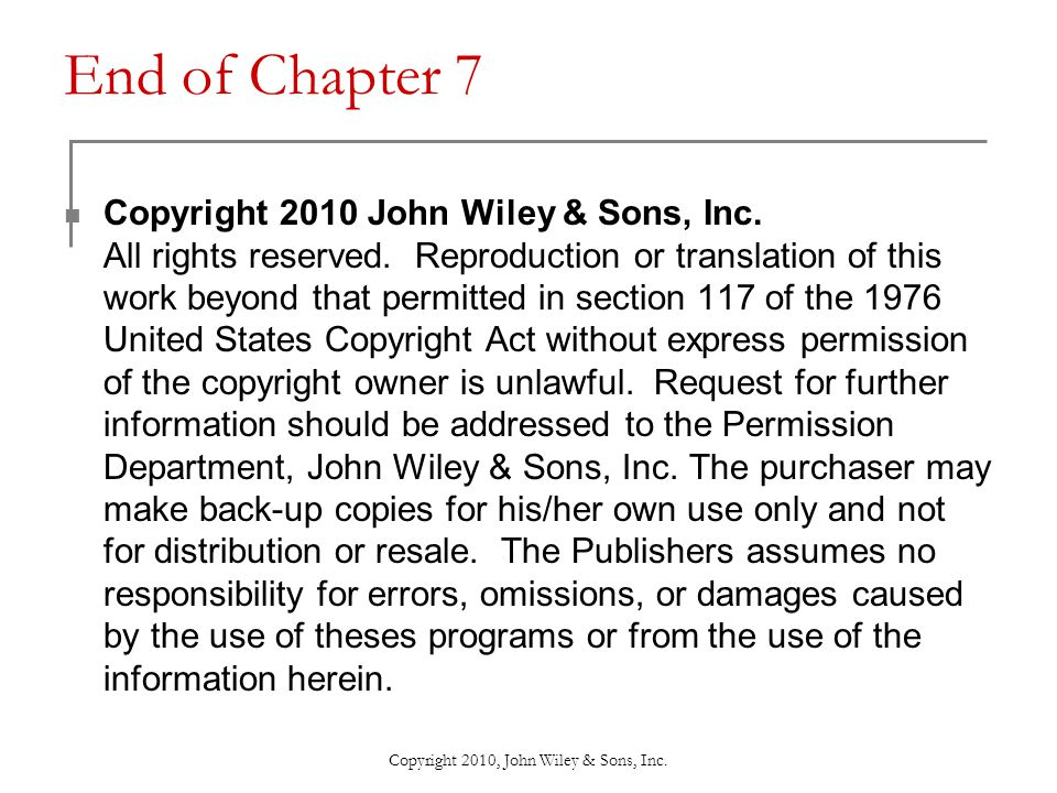 Copyright 2010, John Wiley & Sons, Inc. Types of Movements at Synovial Joints
