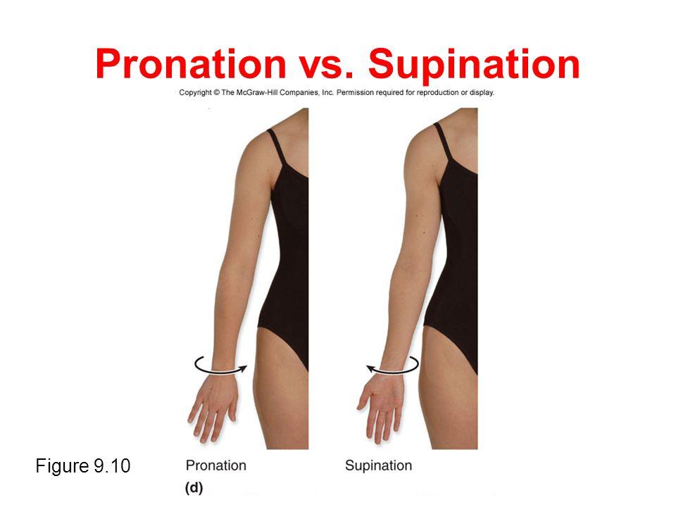 Pronation vs. Supination Figure 9.10