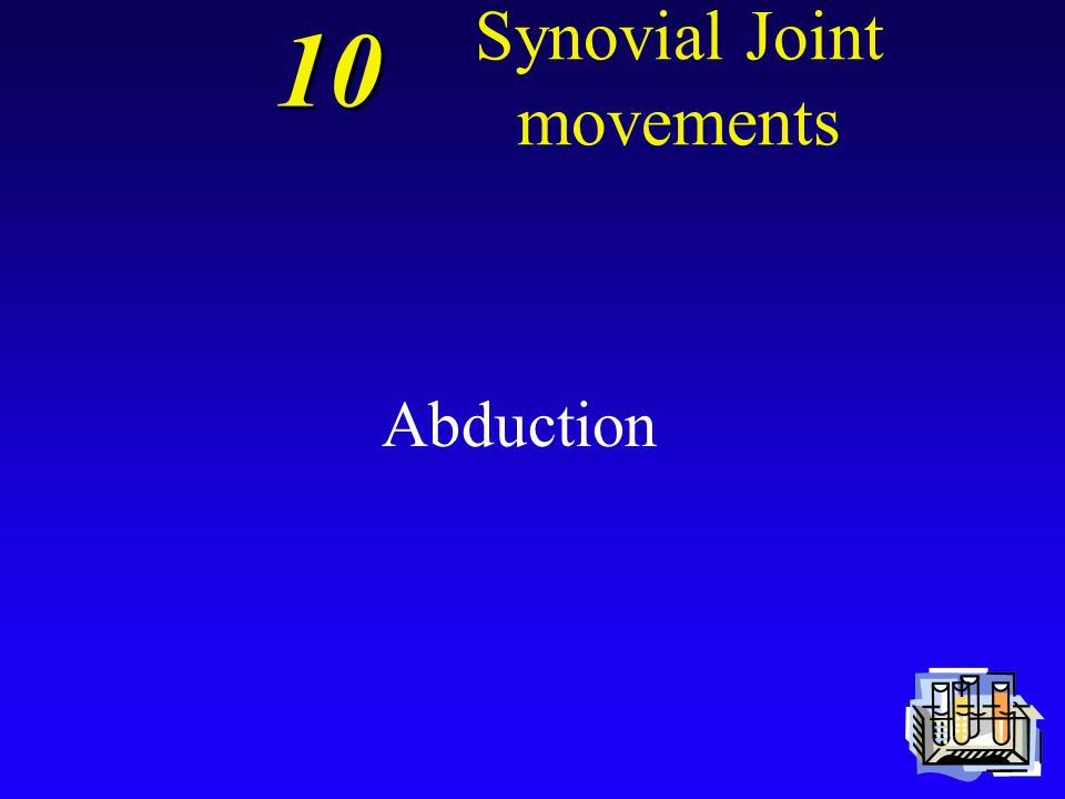 10 Synovial Joint movements A movement away from the longitudinal axis of the body in the frontal plane is termed