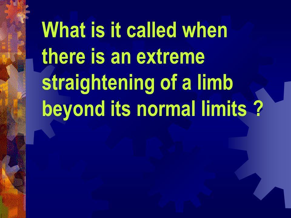 Straighten a limb